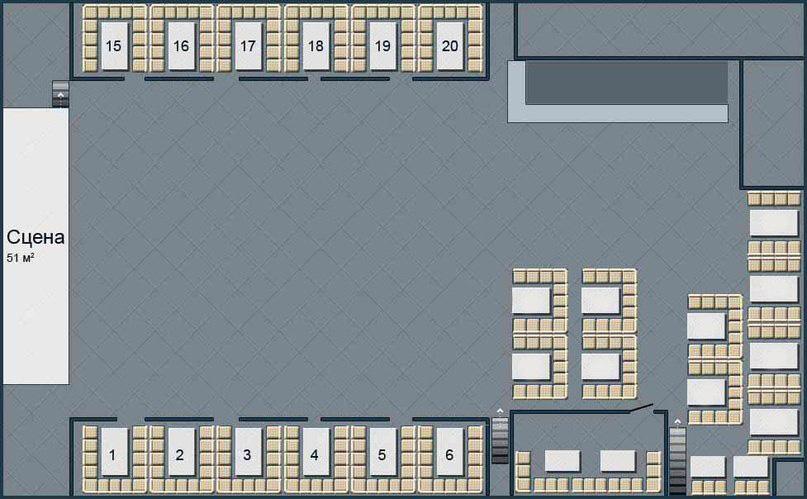 Схема зала .
